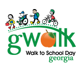 Georgia Walk to School logo